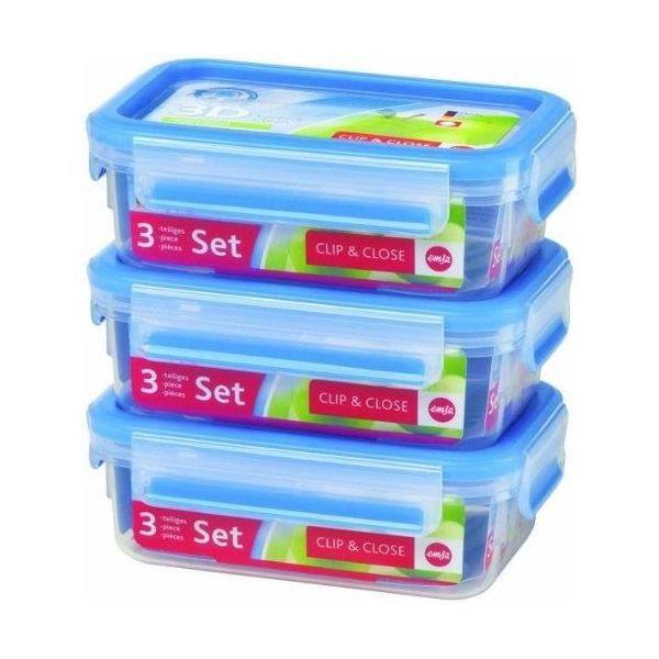 Набор из 3 контейнеров  1 л. CLIP&amp;CLOSEНабор из 3 контейнеров CLIP&amp;CLOSE 1л<br>