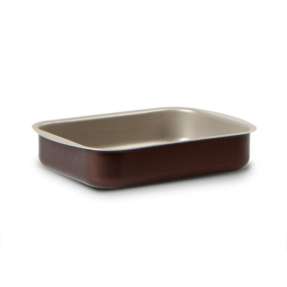 Прямоугольная форма для выпечки 25*18 см Dolci IdeeВнутреннее антипригарное покрытие цвета «шампань»Алюминий пригодный для приготовления пищи: устойчивый к ржавчине, можно мыть в посудомоечной машинеНе содержит ПФОА, свинец и кадмий<br>