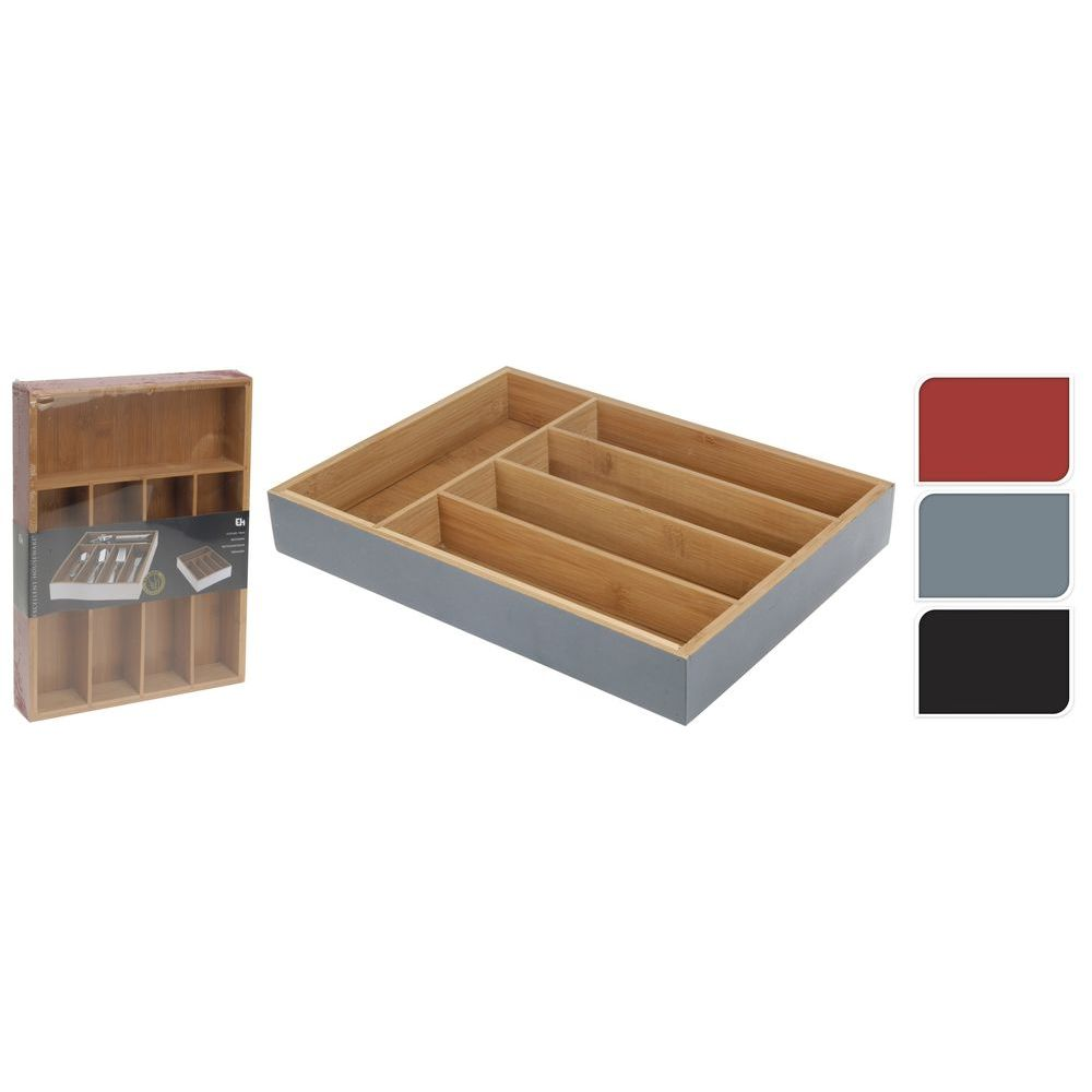 Ящик для столовых приборов в ассортиментеящик для хранения столовых приборов, разм. 35х26х5 см<br>