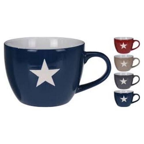 Кружка Звезда 450 мл в ассортиментеЯркая и оригинальная кружка «Звезда» имеет большой объем, что, несомненно, порадует любителей горячих напитков. Благодаря тонкой, но прочной ручке кружку удобно держать в руке. Изделие выполнено из качественных материалов и не нагревается от горячего чай или кофе. Модель представлена в широком ассортименте, что позволяет найти свою идеальную кружку. Изделие органично дополнит собой любой кухонный интерьер, а также может стать отличным подарком.<br>