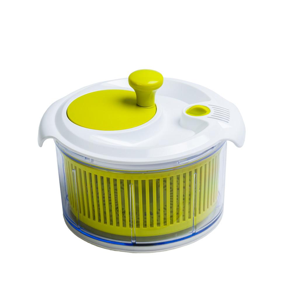 Контейнер для сушки салата и зелени маленькийБлагодаря этому незаменимому контейнеру вы быстро и без особого труда высушите листья салата и зелень. Контейнер надолго сохранить чистую, сухую зелень в холодильнике. Контейнер для сушки - практичный помощник на вашей кухне.<br>