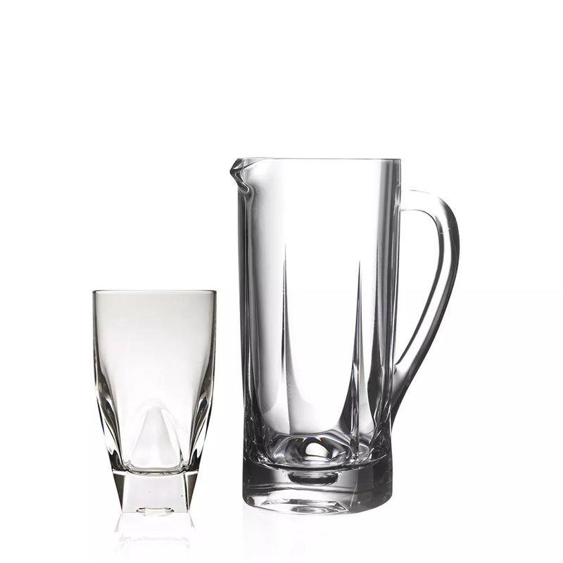 Фото #1: Набор для напитков 7 предметов (кувшин + 6 стаканов) DIAMANTE