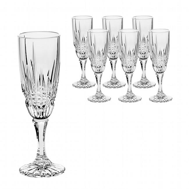 Набор бокалов для шампанского Vibes, 6шт, 180 мл.Компания Cristal Bohemia является крупнейшей чешской компанией на рынке хрусталя. Благодаря совмещению традиционных технологий производства и современного оборудования посуда является образцом великолепного качества и невероятной красоты. Набор бокалов для шампанского станет украшением любого вашего праздничного стола.<br>