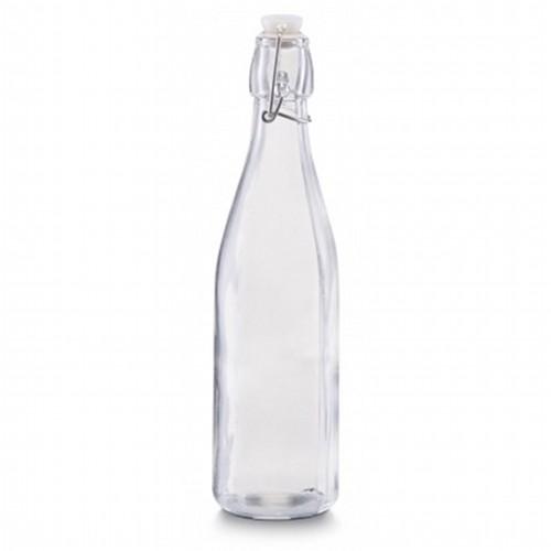 Емкость для масла и уксуса с застежкой 500 мл., d7 h27см, стекло 19712 прозрачныйЕмкость для масла и уксуса сделана из стекла, она герметичная, благодаря чему масло или уксус не выветриваются.<br>