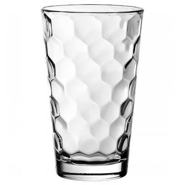 Стакан для напитков HONEY 410 млОригинальный стакан итальянского  производителя Vidivi сделан из высококачественного стекла. Необычный дизайн и форма украсят любой интерьер. Он станет отлично впишется в уже имеющуюся коллекцию вашей посуды или станет хорошим подарком для ваших друзей и близких. Стакан подходит для любых напитков.<br>