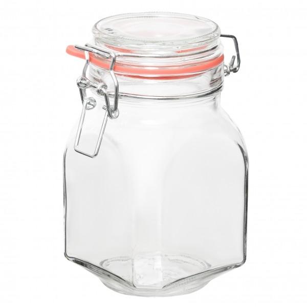 Банка д/хранения с крышкой с фиксаторомБанка с фиксатором от Miolla отлично подойдет для хранения пищевых продуктов. Толстое, идеально гладкое стекло не впитывает вкусы и запахи. Плотная резиновая прокладка обеспечивает герметичность.<br>