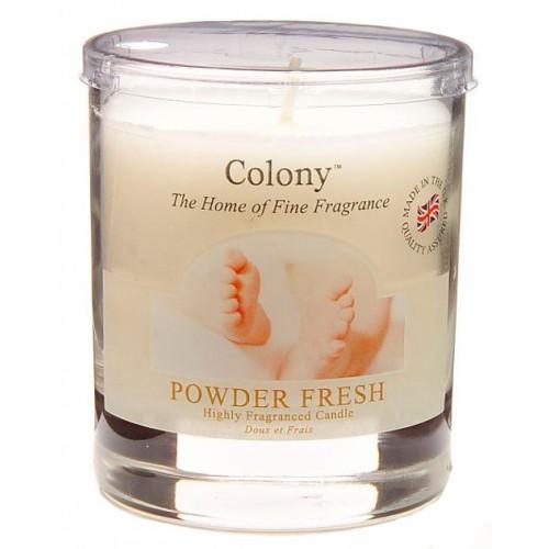 Свеча Свежая пудрав стеклеАроматическая свеча с ароматом Свежая пудра очень освежает помещение и придает ему ощущение тепла и уюта. В помещении постоянно ощущается чистота и комфорт, комната всегда наполнена легким ненавязчивым ароматом. Свеча может гореть до 40 часов.Она подарит вам еще неповторимый аромат.<br>