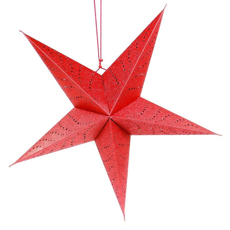 Светильник подвесной Star с кабелем 3,5 м и патроном под лампочку красный