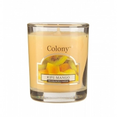 Свеча Спелый мангоАроматическая свеча с ароматом Манго очень освежает помещение и придает ему изумительный аромат спелого манго. В помещении постоянно ощущается чистота и комфорт, комната всегда наполнена свежим ароматом спелых фруктов – манго, персика и арбуза - с нотками цветущих экзотических растений – жасмина и джакаранды. Свеча может гореть до 16 часов.<br>