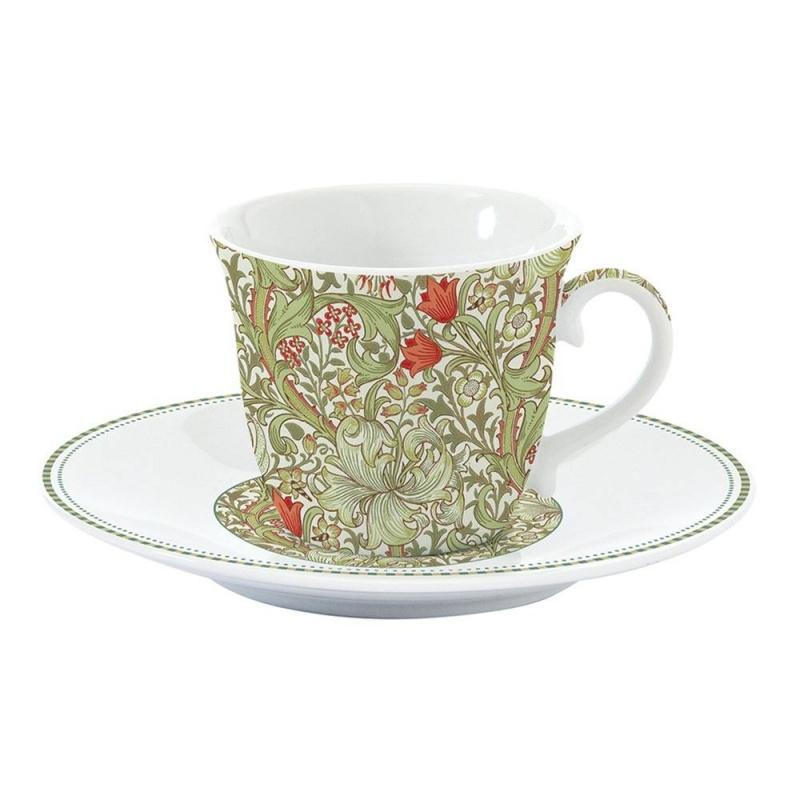 Чашка с блюдцем 200 мл Easy Life William Morris зелёный