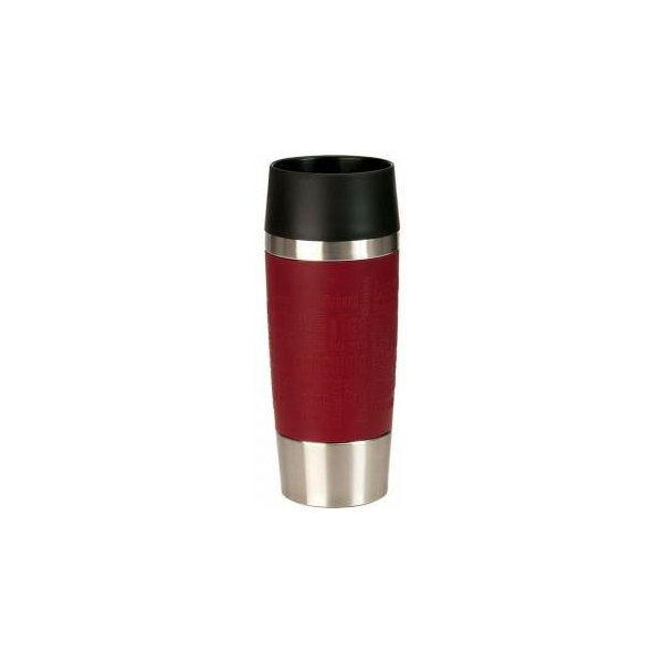 Термокружка TRAVEL MUG 0,36л краснГерметичность,удобство в использовании, способность держать температуру горячих напитков до 4-х часов, а холодных - до 8-ми, крышка легко снимается и моется - вот основные свойства этой кружки.<br>