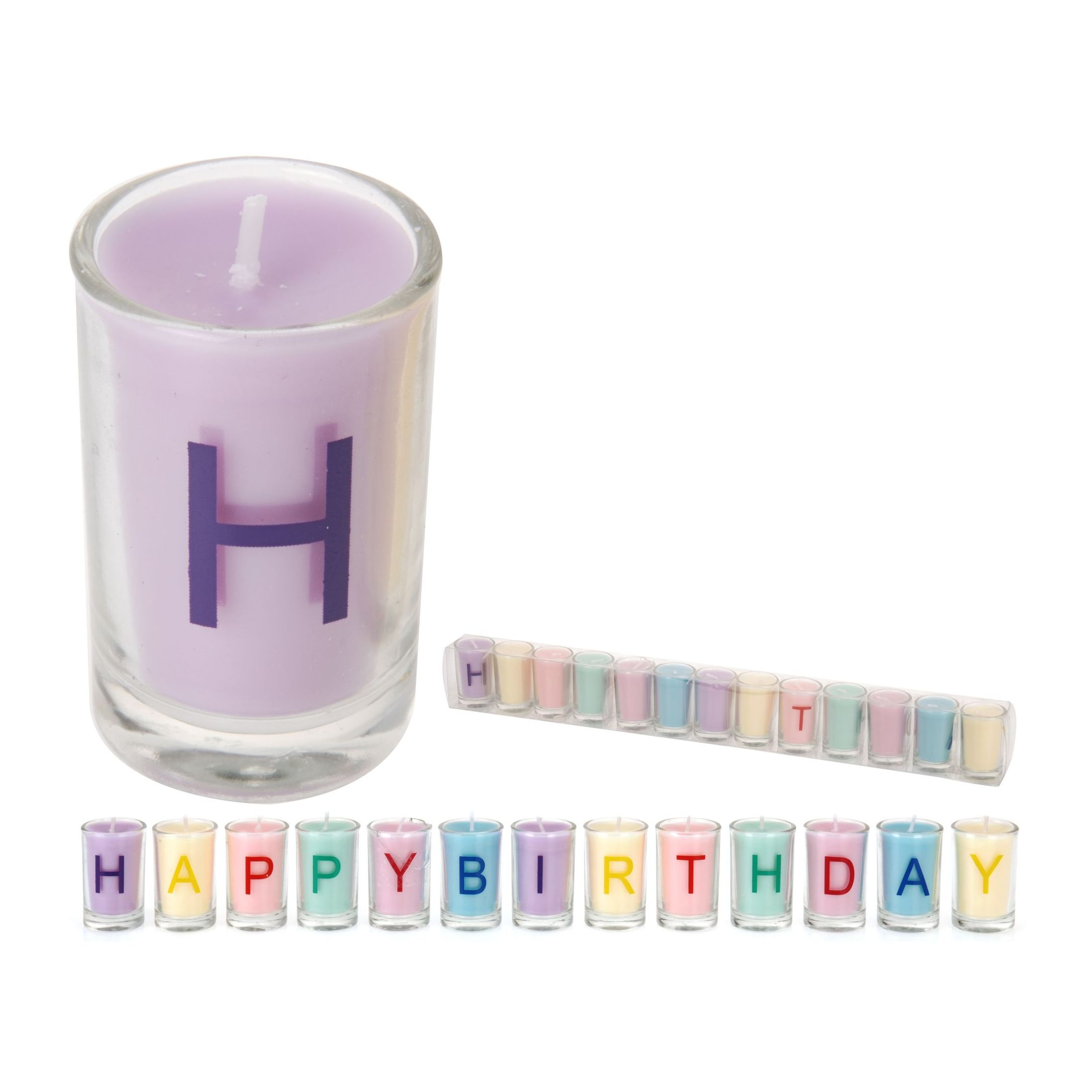 Набор свечей в стаканах 13шт. Happy birthday<br>
