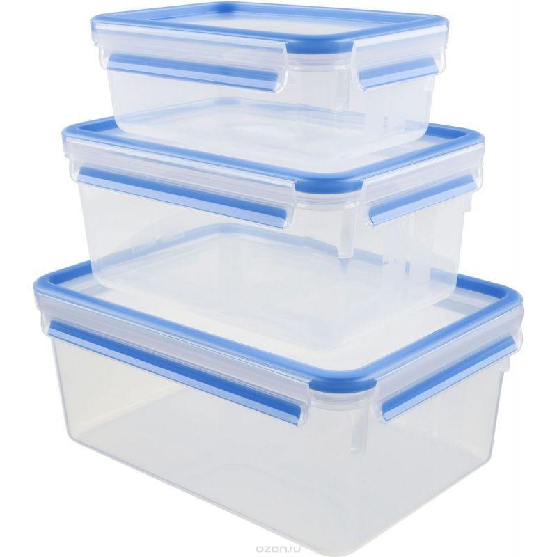 Набор из 3 контейнеров  1 л. CLIP&amp;CLOSEНабор из 3 контейнеров CLIP&amp;CLOSE 1,00 / 2,30 / 3,70<br>