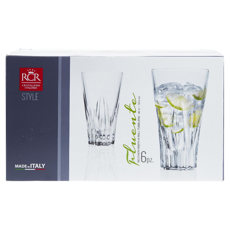 Набор стаканов д/воды высоких 400 мл 6 шт FLUENTEСервировка<br><br>