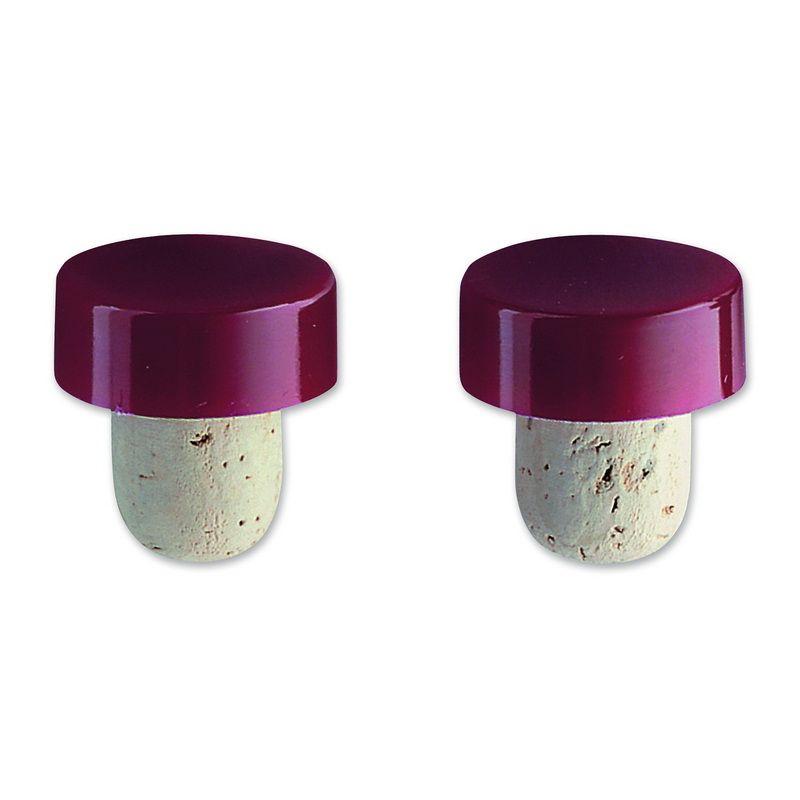 Набор пробок для бутылки 2 штКачественный набор пробок для бутылки справится с укупориванием бутылки начатого вина или другого напитка. В изготовлении компонентов использовано экологически чистое сырье – натуральная пробка, расположенная в нижней части. Верхняя область изделия – пластик. Плотно закрытая такой пробкой бутылка отличается герметичностью, в нее не попадет другая жидкость и не выльется базовая. Аромат напитка и его крепость будут полностью сохранены. Применение этому набору найдется в каждом доме, в баре он не займет много места. Также его можно использовать в качестве оригинального символического подарка.<br>