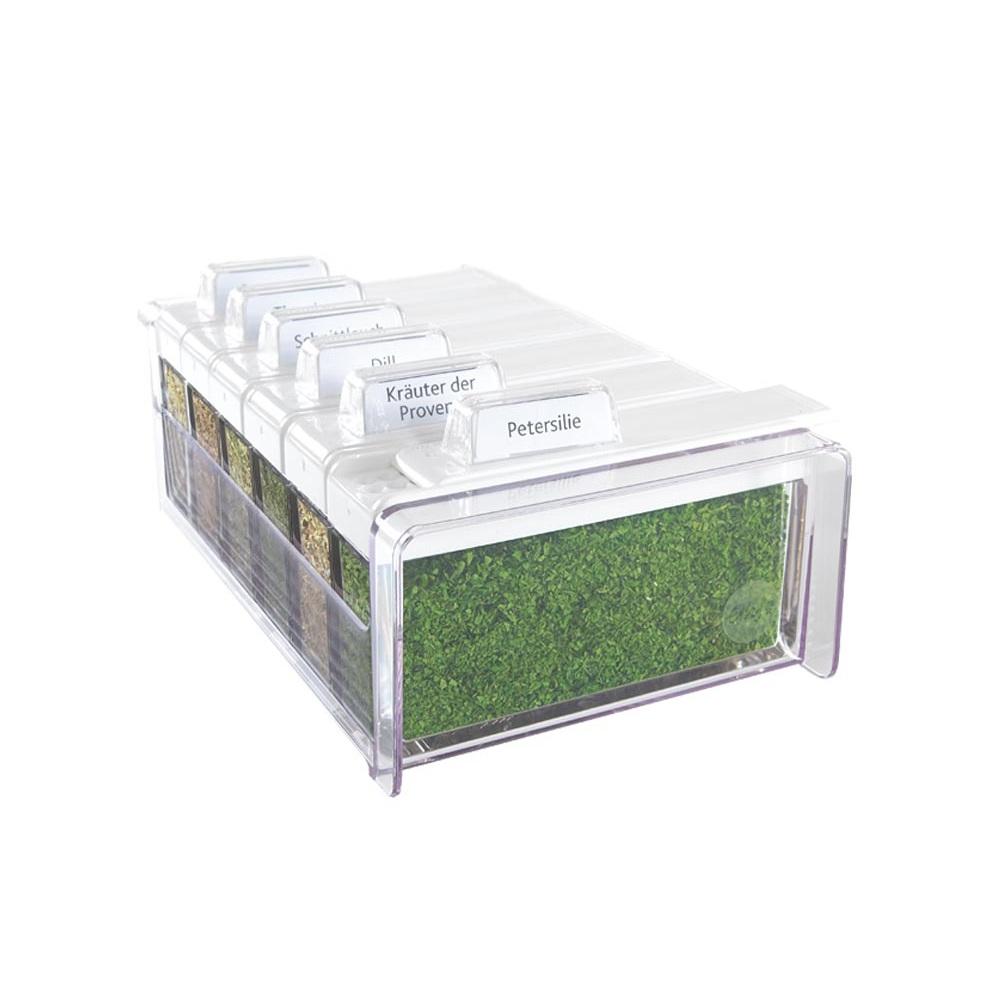 Набор для специй в органайзере, 6 шт, с травами SPICE BOX