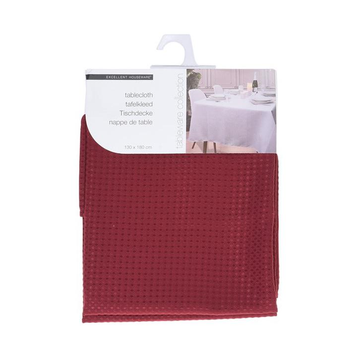 Купить Скатерть 180х130 см красная, Excellent Houseware