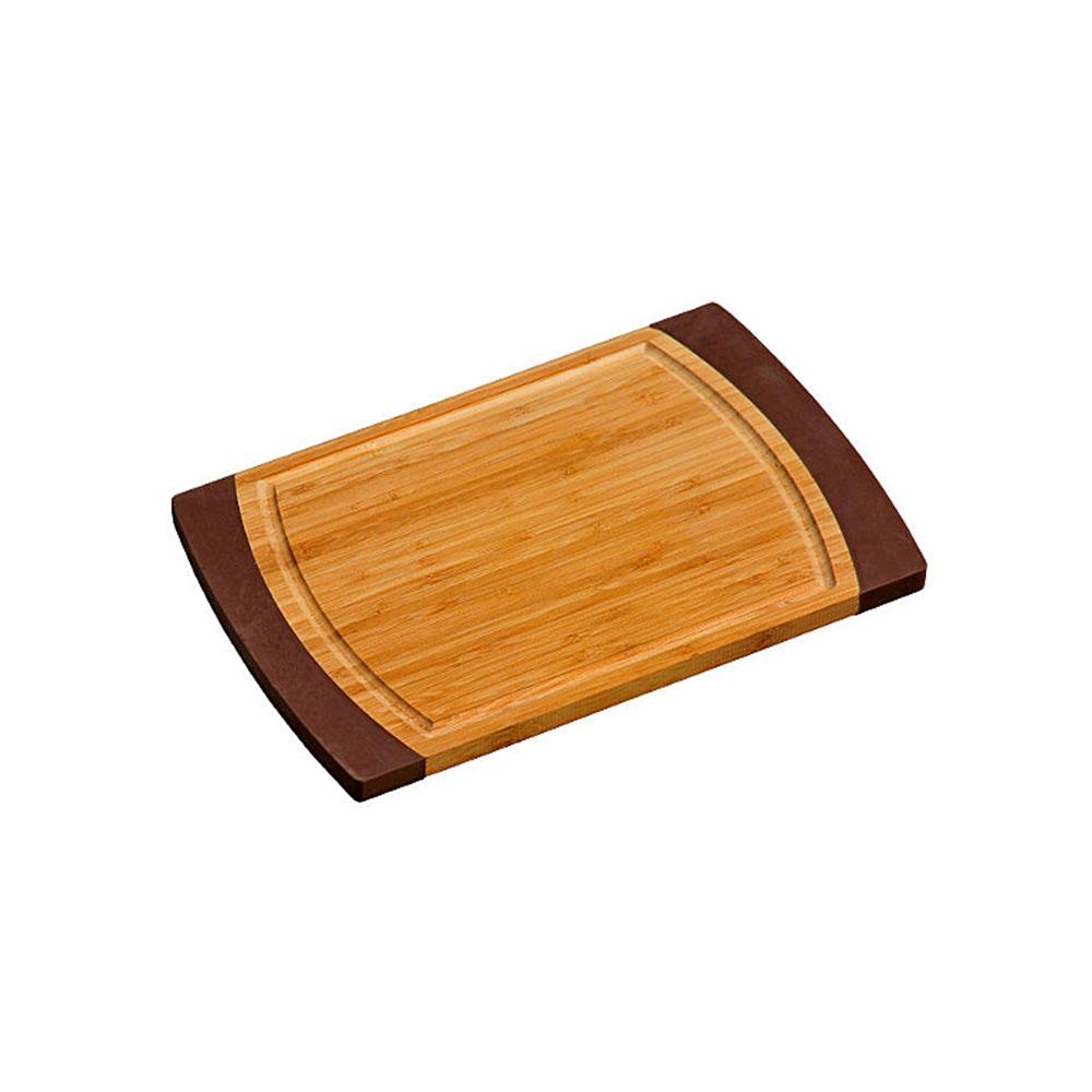 Доска разделочная из бамбука темно-коричневДоска разделочная Kesper темно-коричневая, прямоугольной формы, изготовлена из бамбука. Имеет противоскользящее покрытие с двух сторон.<br>