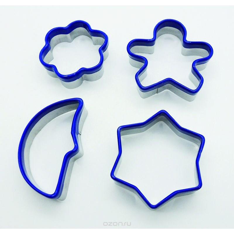 Набор формочек для печеньяНабор формочек от Iris поможет приготовить фигурное и вкусное домашнее печенье. Эти ножи отличного качества и имеют разнообразные формы, поэтому вы сможете выбирать их по настроению.<br>