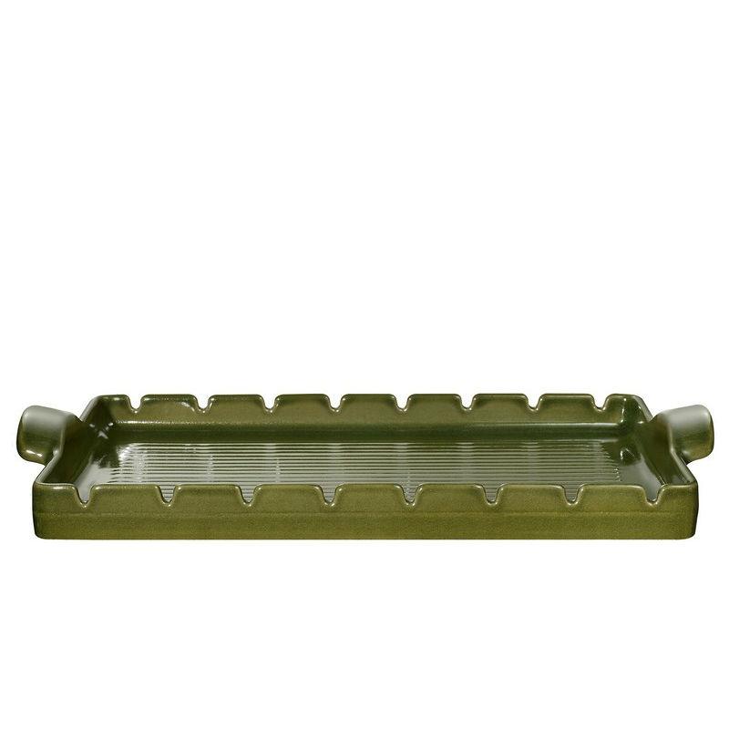 Барбекью-гриль BBQ 42*25 см оливковыйEmile Henry - известный бренд, который производит керамическую посуду высокого качества. Продукция французской компании очень разнообразна и почитаема. Блюдо предназначено для использования на барбекю-решетке. Выполнена из BBQ керамики, которая защитит продукты от прямого огня и сохранит их полезные свойства. Возможно использование в духовке и микроволновой печи.<br>