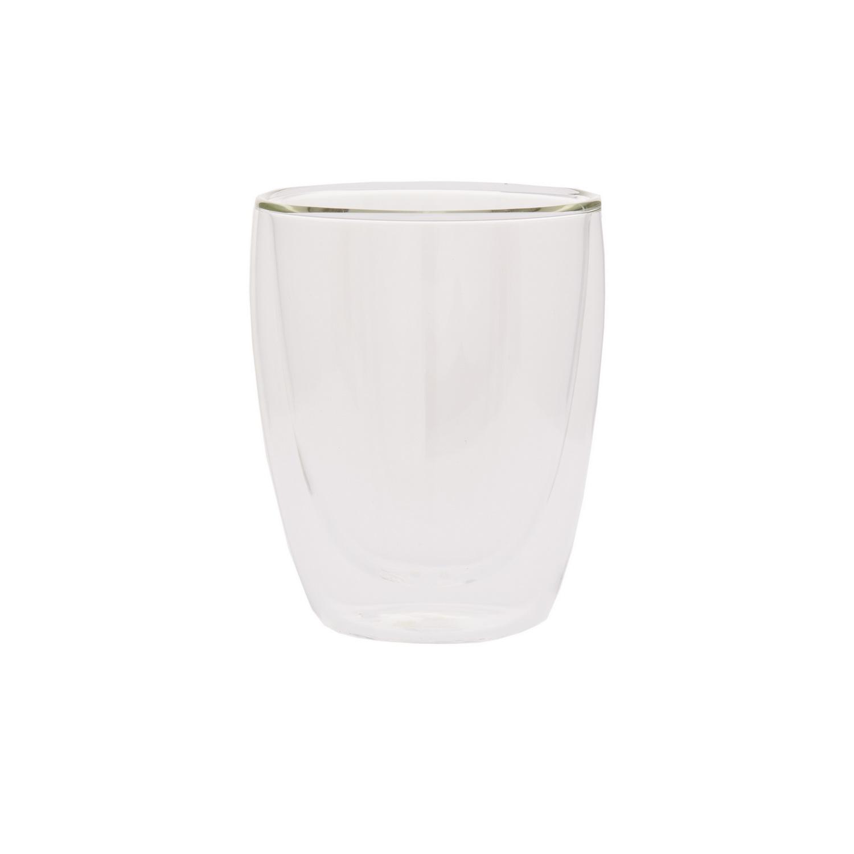 Стакан стеклянный с двойными стенками 220млСтакан стеклянный с двойными стенками – практичный и удобный выбор для сервировки как горячих, так и холодных напитков. Особая конструкция стакана с воздушной прослойкой между стенками обеспечивает комфортную температуру внешней поверхности и в то же время длительное сохранение изначальной температуры напитка. Изделие подойдет как для сока или лимонада, для воды или прохладительных коктейлей, так и для чая или кофе. Напитки будут красиво смотреться за гладким стеклом, а стильные грани изящно преломляют свет. Стакан стеклянный с двойными стенками удобен в использовании и уходе.<br>