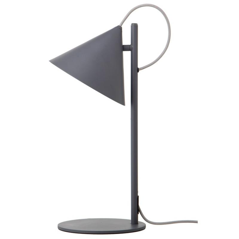 Лампа настольная Frandsen Benjamin серая матовая, серый шнур
