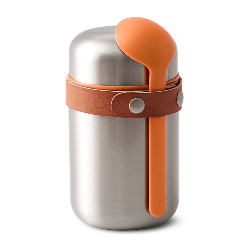 Термос для горячего 400 мл Food Flask оранжевый.