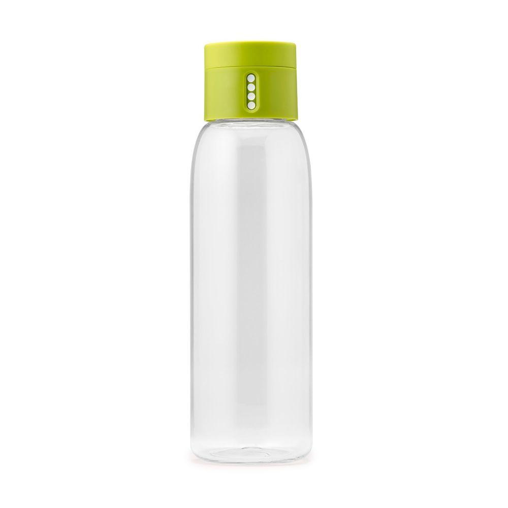 Бутылка для воды Dot 600 mл зеленаяБутылка для воды Дот зеленого цвета принесет несомненную пользу не только спортсменам, но и всем, кто заботится о состоянии здоровья или придерживается диеты. Устройство бутылки позволяет контролировать объем потребляемой жидкости. С этой целью бутылка оснащена специальной пробкой, которая подсчитывает количество наполнений сосуда. Бутылка для воды Дот бренда Джозеф Джозеф сделана из прочного и экологичного материала тритан, а также пластика ABS и полипропилена. Из нее удобно пить, а широкое горлышко упрощает мытье бутылки.<br>