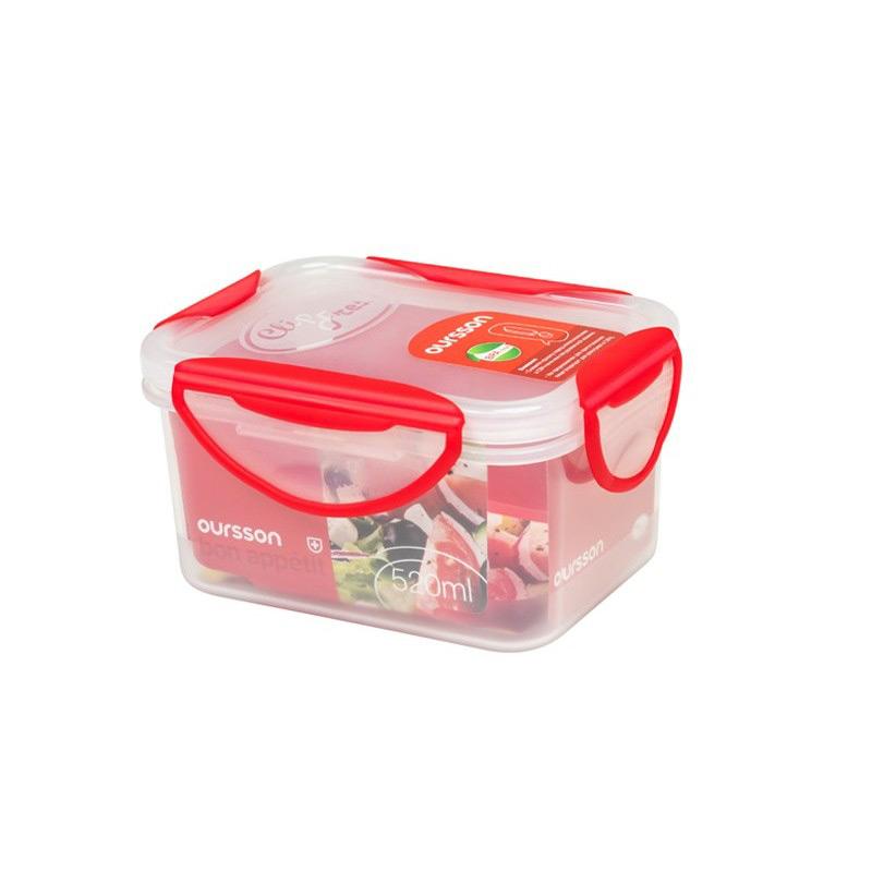 Контейнер пластиковый 600 мл красныйКачественные контейнеры должны быть на люой кухне. В них легко можно хранить еду в холодильнике, упаковать обед с собой в дорогу. Они не занимают много места и при этом экологичны и имеют стильный дизайн. Благодаря технологии Clip Fresh еда в контейнере сохранит свой аромат и свежесть надолго<br>