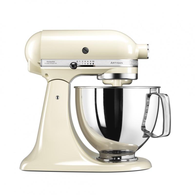 Миксер планетарный бытовой дежа 4 83л 3 насадки кремовыйМиксер KitchenAid предназначен для смешивания, взбивания, замешивания теста для приготовления изумительных кексов и великолепного хлеба. Его надёжные насадки позволяют делать на кухне всё: резать, измельчать, готовить свежую пасту, выжимать фруктовые соки и перемалывать мясо.Миксер выполнен из цельного металла с эмалевым покрытием, которое рассчитано на долгий срок службы. Он предназначен для интенсивной эксплуатации, поскольку изначально разрабатывался для профессиональных предприятий питания.Уникальный метод планетарного смешивания, запатентованный еще в 1919 году – венчик совершает обороты в одну сторону, а привод в это время движется по кругу в другую сторону, тщательно смешивая ингредиенты и не оставляя неохваченных участков ни в одной части чаши.Мощность миксера составляет 300 Ватт, она позволяет десятискоростному электродвигателю с прямым приводом стабильно работать во всех режимах, от легкого перемешивания до высокоскоростного взбивания. Аппарат работает тихо, надёжно и эффективно.В передней части привода миксера имеется еще одно гнездо для подсоединения дополнительных насадок. Они позволяют выполнять все виды работ, которые должен выполнять кухонный комбайн (и даже больше!). Он может рубить, тереть, и резать, может приготовить фарш из мяса или молоть муку из зерен, а еще, миксер может превратиться в машинку для приготовления пасты или колбас, в консервный нож или соковыжималку.Такой миксер по своей функциональности сравним с кухонным комбайном — выполняет целый ряд дополнительных функций, значительно экономя место на кухне. Стандартная комплектация миксера: насадка венчик, насадка лопатка, лопатка с гибким силиконовым ребром для миксеров, насадка крюк для замешивания теста, чаша объёмом 4,83 л, чаша без ручки объёмом 3,0 л, защитный обод.<br>