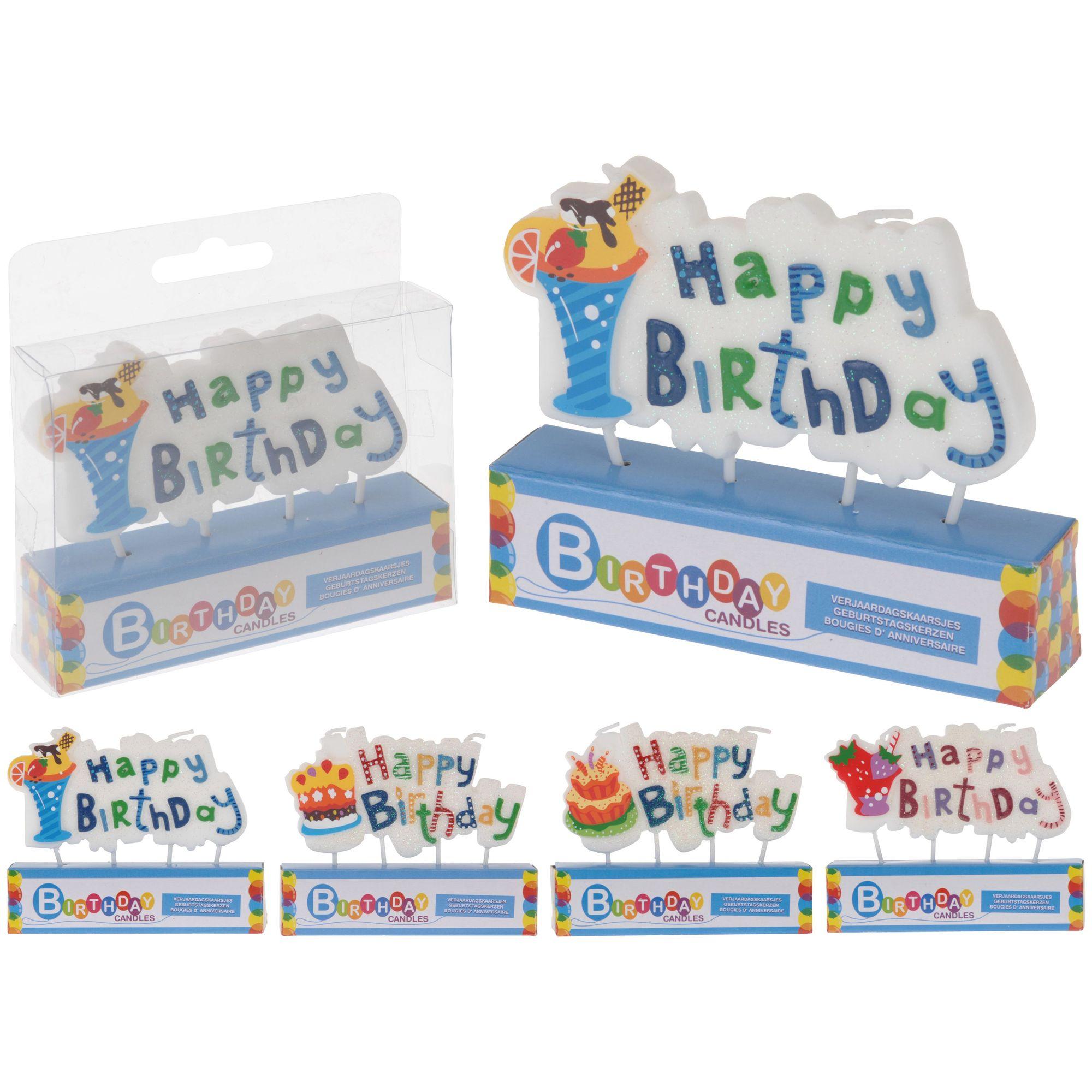 Свеча праздничная Happy Birthday<br>