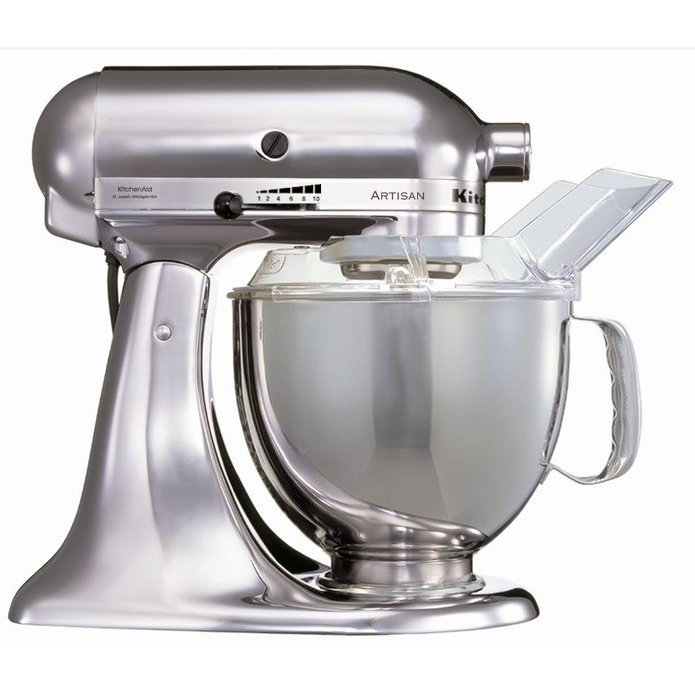 Миксер планетарный с чашей 4,83л полупроф. Kitchen Aid матовый никель миксеры