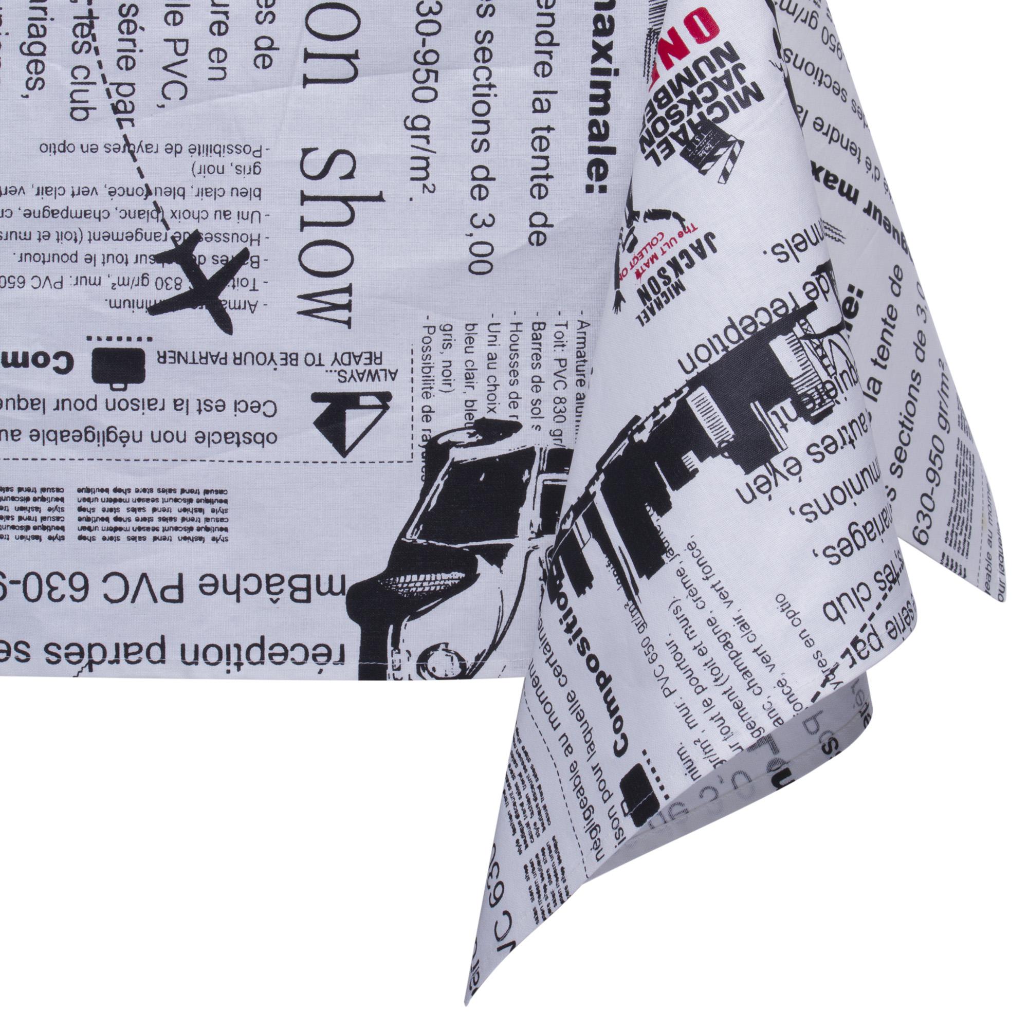 Скатерть Французская газетаСкатерть от Magia Gusto поможет вам в быту, защитит стол от царапит и грязи, а также украсит его. Качественная, стильная, она станет вашим любимчиком.<br>