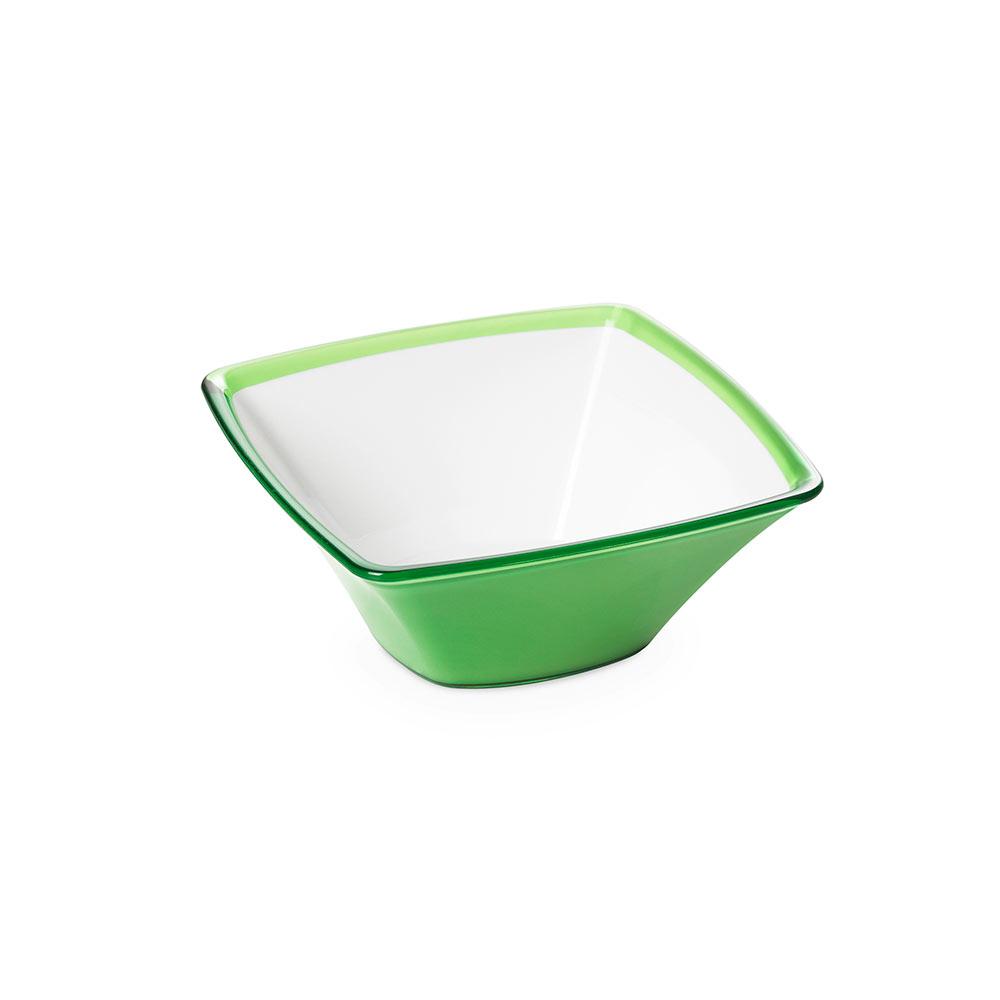 "Салатник квадратный Omada "",Square"", зелёный 20 см"