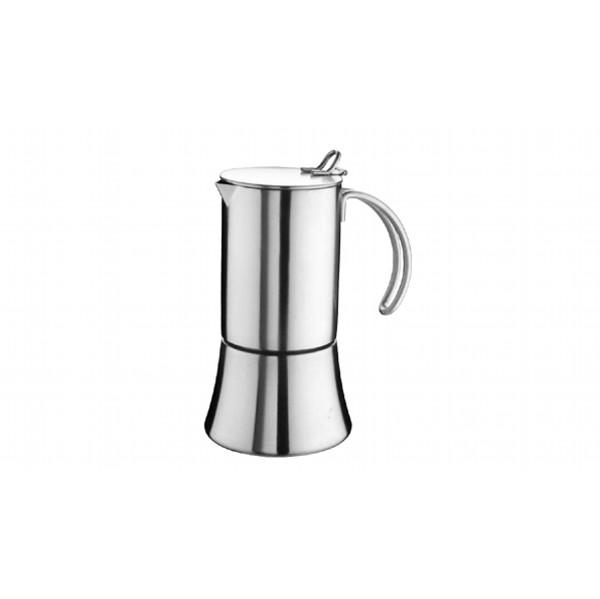 Кофеварка гейзерная BAHIA на 10 чашекPintinox производит качественные и стильные столовые приборы и посуду. Все предметы созданы с любовью, поэтому пользоваться ими и приятно, и удобно. Гейзерная кофеварка откроет для вас настоящий вкус кофе.<br>