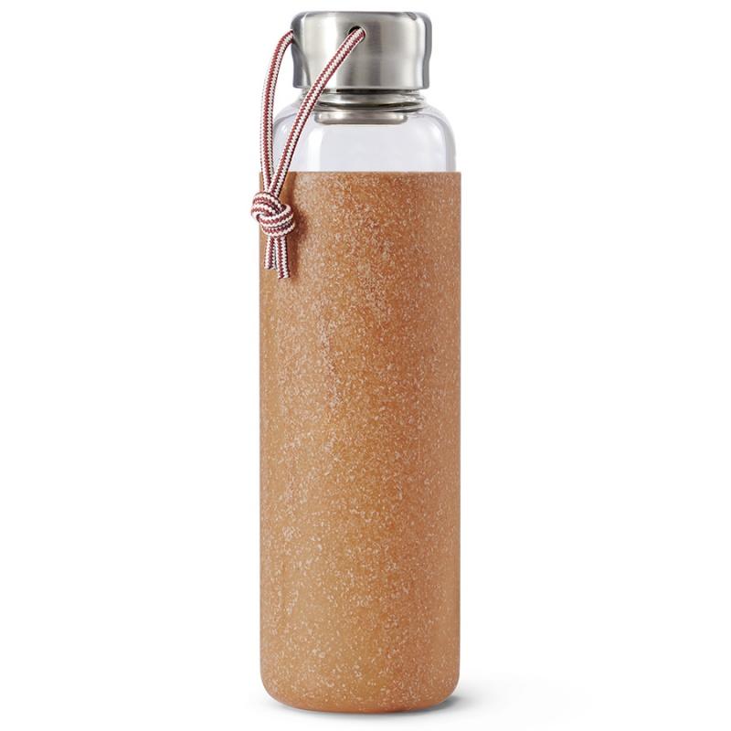 Бутылка для воды стеклянная 600 мл Black+Blum светло-коричневая.