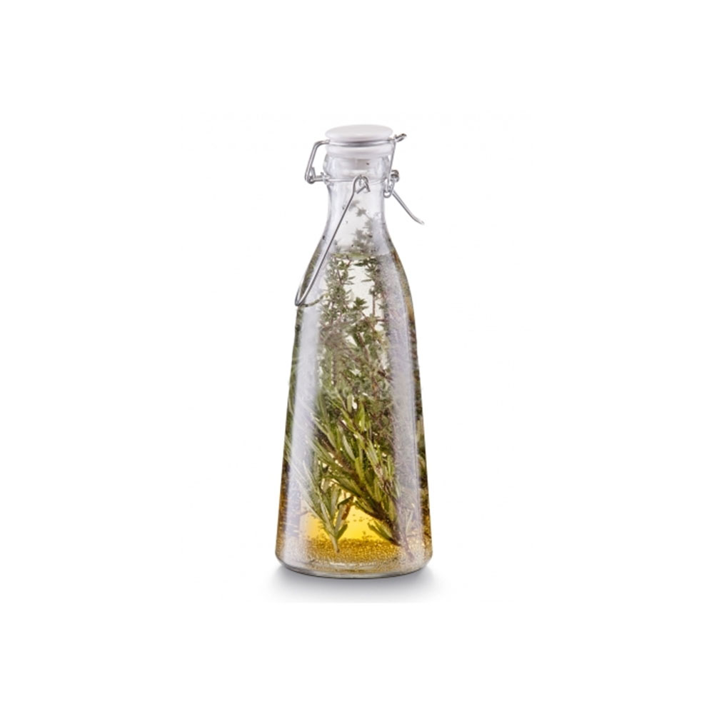Емкость для масла и уксуса с застежкойЕмкость для масла и уксуса Zeller, прозрачная, с герметично закрывающейся крышкой  с застежкой предназначена для хранения масел, соусов и прочих жидкостей.<br>