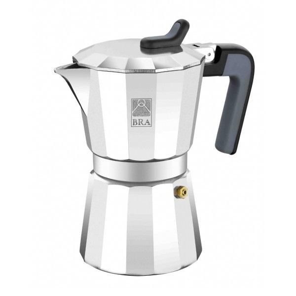 Кофеварка гейзерная на 6 чашек DE LUXEКофеварка DE LUXE от Pintinox поможет вам приготовить незабываемый кофе. Вы, все ваши домочадцы и гости останутся довольны вкусом кофе.<br>