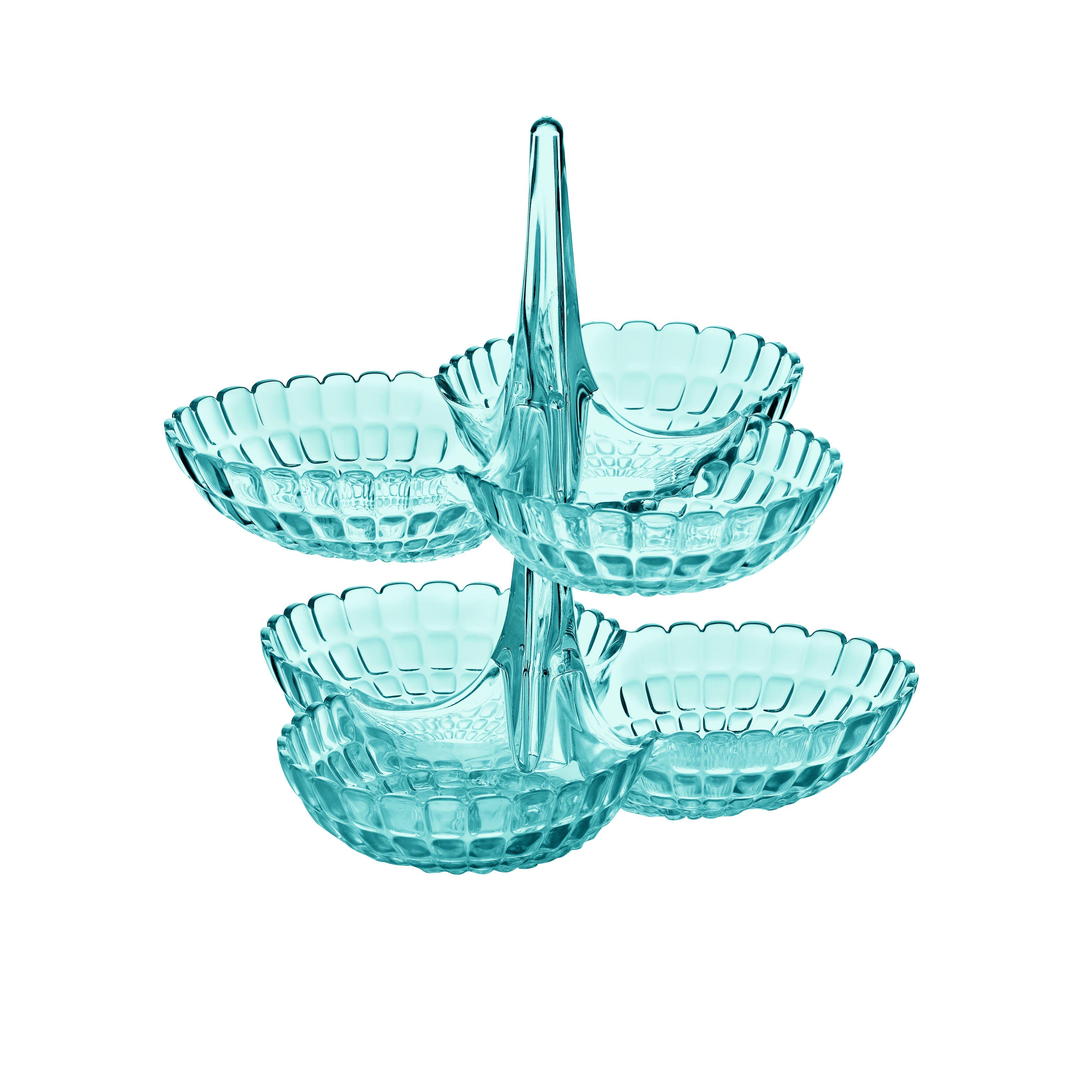 Менажница двухярусная TIFFANY голубаяЗамечательная менажница TIFFANY от Guzzini не только поможет компактнее разложить фрукты и десерты, но и станет прекрасным украшением любого стола.<br>