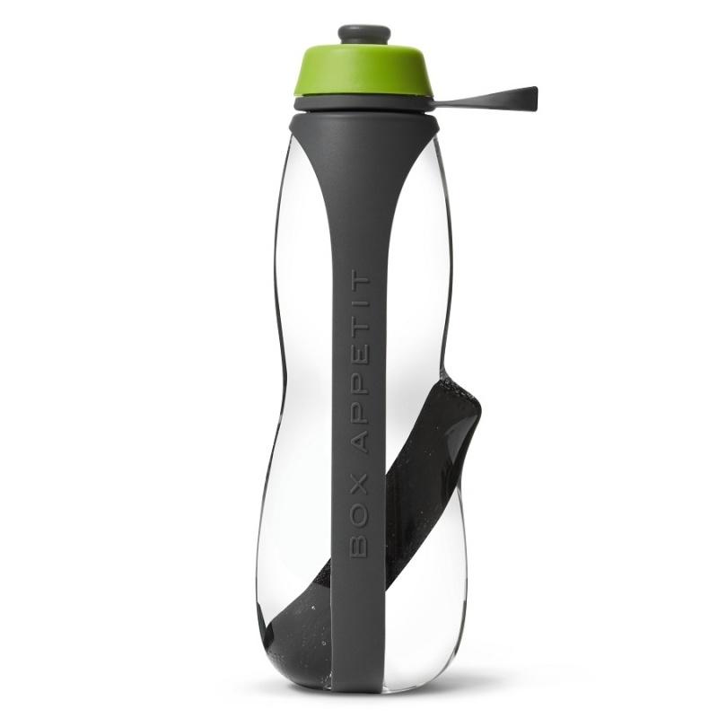 Эко-бутылка Black+Blum Eau Good duo с фильтром серый-зеленая.