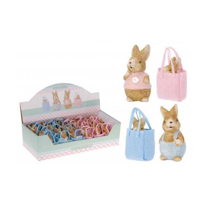"""Статуэтка """"Кролик"""" в сумке 3,5х3х6,5 см в ассортименте"""