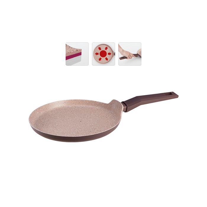 Сковорода блинная с антиприг.покр., серия TAVA5-слойное антипригарное покрытие Pfluon Cookmark.Подходит для электрических, газовых, стеклокерамических, индукционных плит<br>