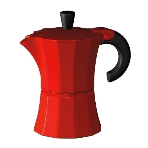 Кофеварка гейзерная на 9 чашек Morosina 450 мл красная