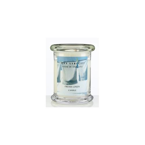 Свеча ароматическая в стекле Лен большая 8х12х8 белыйСвеча ароматическая в стекле Лен большая от английской компании Wax Lyrical.  Уникальное средство для устранения неприятного запаха. Благодаря технологии Odouraze , которая находит молекулы неприятного запаха, окутывает их и полностью уничтожает. Придаст воздуху свежий аромат промытого льна.<br>