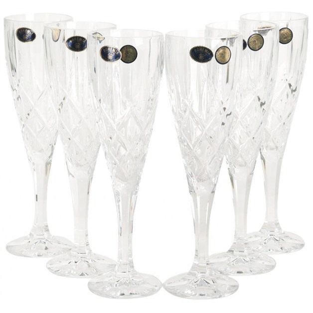 Набор бокалов для шампанского 6 шт. 180 мл Crystal Bohemia