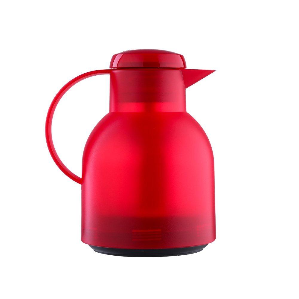 Термос 1,0 л, красный SAMBAТермос станет незаменимым помощником при выездах на природу, в дальних поездах, на даче. На крышке располается кнопка, благодаря который вы можете легко открыть термос, а удобный носик не позволит вашим напиткам разлиться, когда вы будете угощаться вкусным чаем свою семью и друзей.<br>