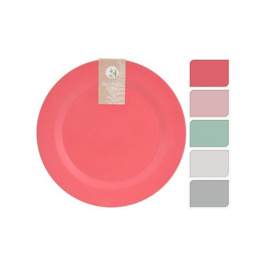 Тарелка бамбуковая 20 см в ассортиментеМатериал изготовления тарелки – экологически чистый и безвредный бамбук, окрашенный с помощью пищевых красителей. Она долговечная и прочная, при падении не разбивается. На ощупь имеет приятную шероховатую поверхность. Тарелка эргономически удобной круглой и плоской формы предназначена для подачи основных, в том числе горячих, блюд. Такая посуда будет уместно выглядеть на празднично сервированном столе, а также на пикнике на природе. Благодаря легкому весу ее удобно брать с собой. Приятные пастельные цвета тарелки способствуют аппетиту.<br>