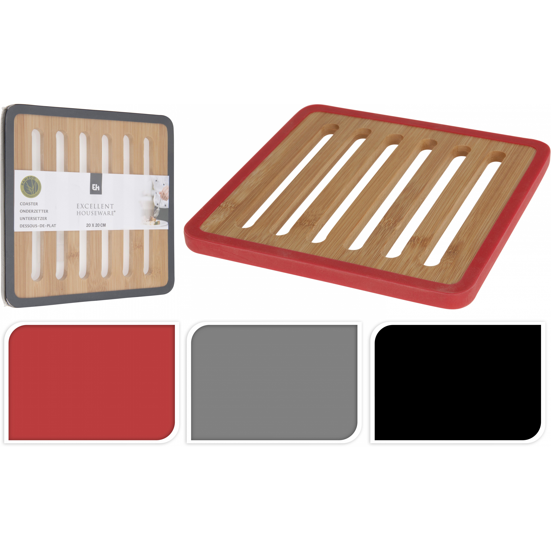 Подставка под горячееExcellent Houseware изготавливает посуду и предметы для дома. Подставка под горячее пригождается ежедневно. Она защищает поверхность столешницы и стола от высоких температур. Внимание! Выбирать цвет заранее не представляется возможным.<br>