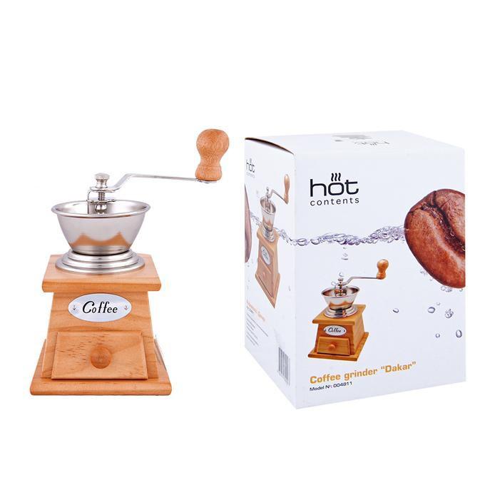 Кофемолка 100 мл. ДакарБренд Hot Contents создал удивительные приспособления для любителей порадовать себя вкусным чаем или кофе. Используя только лучшие материалы для товаров, компания сделала их максимально долговечными и удобными.<br>