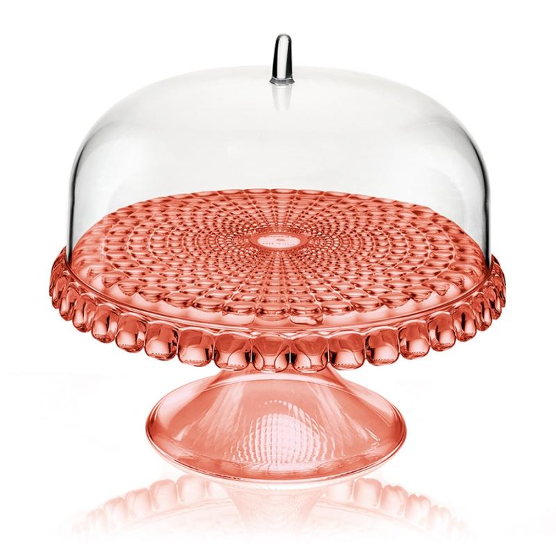 Тортовница Guzzini Tiffany коралловая